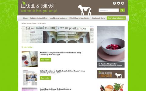 Screenshot of Press Page lokaalenlekker.nl - In de media Archives - Lokaal & Lekker - captured Oct. 3, 2014
