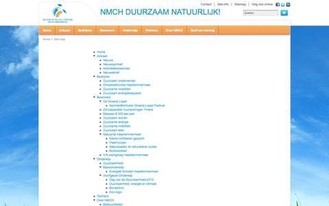 Screenshot of Site Map Page nmch.nl - Site map   Natuur en Milieucentrum Haarlemmermeer - captured Oct. 7, 2014