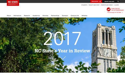 Screenshot of Home Page ncsu.edu - NC State University - captured Dec. 20, 2017