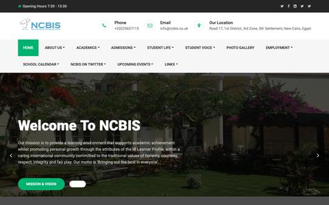 Screenshot of Home Page ncbis.co.uk - NCBIS – Bringing Out the Best In Everyone - captured Dec. 5, 2018
