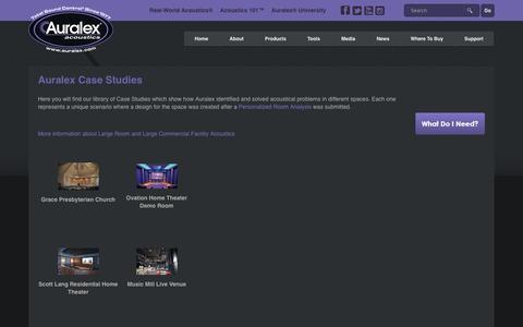 Screenshot of Case Studies Page auralex.com - Auralex Acoustics |   Auralex Case Studies - captured Nov. 21, 2016