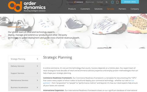 Screenshot of Services Page orderdynamics.com - Retail and Commerce Services « OrderDynamics - captured Sept. 23, 2014