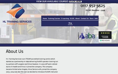 Screenshot of About Page hltraining.co.uk - About Us - HL Training Services - Established 1988 - captured Sept. 25, 2018
