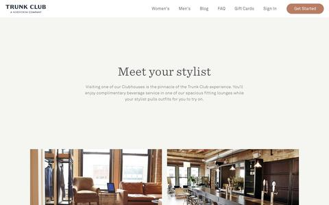 Screenshot of Locations Page trunkclub.com - Clubhouse Locations   Trunk Club - captured Dec. 19, 2018