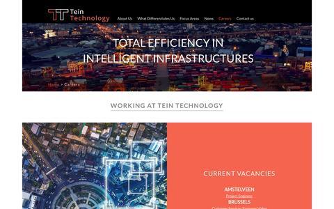 Screenshot of Jobs Page teintechnology.com - Tein Technology - captured Oct. 18, 2018
