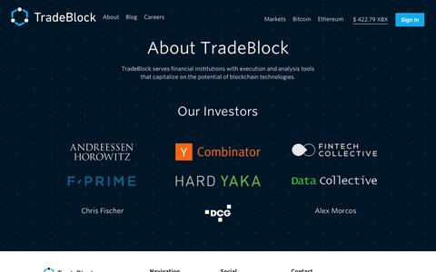 Screenshot of About Page tradeblock.com - About | TradeBlock - captured March 29, 2016
