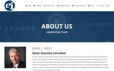 Screenshot of Team Page entint.com - John L. West - Enterprise Integration - captured March 21, 2018