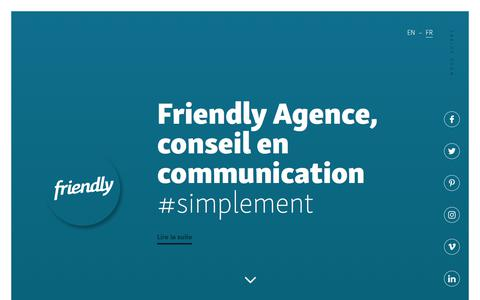 Screenshot of Home Page friendly-agence.com - Friendly Agence - captured Aug. 22, 2018