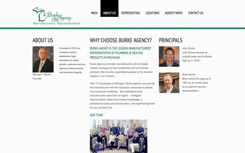 Screenshot of About Page burkeagency.com - About us  |  Burke Agency Inc. - captured Feb. 8, 2016