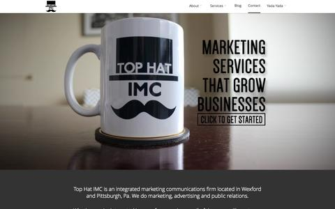 Screenshot of Home Page Case Studies Page tophat-imc.com - A Pittsburgh Marketing, Advertising & PR Firm | Top Hat IMC - captured Oct. 7, 2014