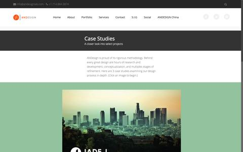 Screenshot of Case Studies Page andesignlab.com - Case Studies - ANDESIGN - captured Nov. 6, 2018