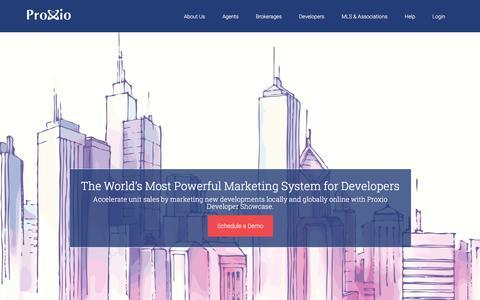 Screenshot of Developers Page proxio.com - Developers - Proxio - captured Dec. 4, 2015