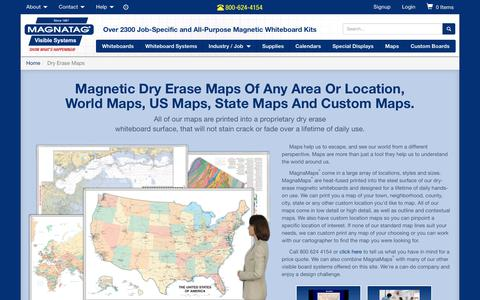 Screenshot of Maps & Directions Page magnatag.com - Whiteboard Maps | Magnatag Whiteboard and Dry Erase Map Systems - captured Oct. 5, 2017
