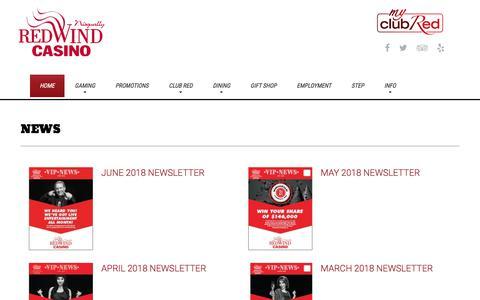 Screenshot of Press Page redwindcasino.com - News | Nisqually Red Wind Casino - captured June 14, 2018