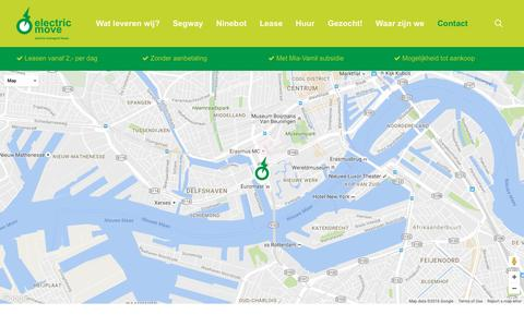 Screenshot of Contact Page electricmove.nl - Contact - ElectricMove - captured Nov. 3, 2016