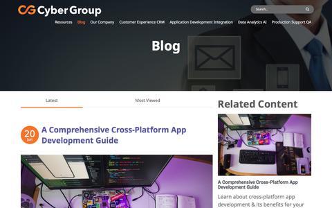 Screenshot of Blog cygrp.com - Blog | Cyber Group - captured July 12, 2019