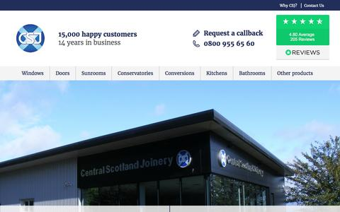 Screenshot of About Page csj.co.uk - About CSJ - Central Scotland Joinery's History - captured May 15, 2017