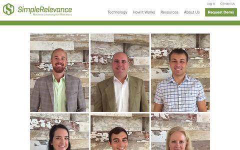 Screenshot of Team Page simplerelevance.com - Team | SimpleRelevance - captured Dec. 4, 2015