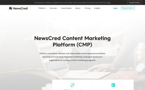Screenshot of Pricing Page newscred.com - Pricing Packages – NewsCred - captured Sept. 19, 2018