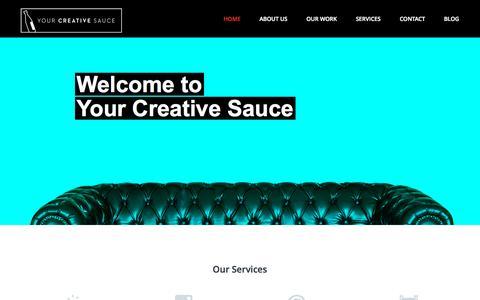 Screenshot of Home Page yourcreativesauce.com - yourcreativesauce.com - captured Sept. 30, 2014