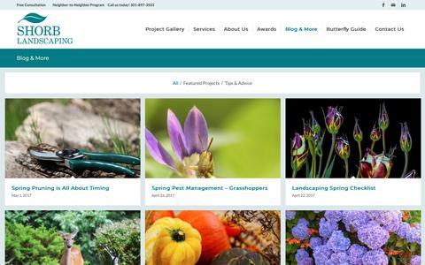 Screenshot of Blog shorblandscaping.com - Shorb Landscaping Blog and Landscaping Tips and Advice - captured Dec. 5, 2018