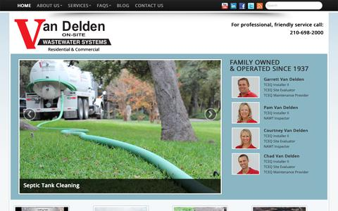 Screenshot of Home Page vdwws.com - Septic System Services for San Antonio and Boerne - captured Oct. 19, 2018