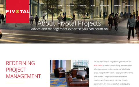 Screenshot of About Page pivotalprojects.com - About Us   Pivotal Projects - captured Nov. 7, 2016
