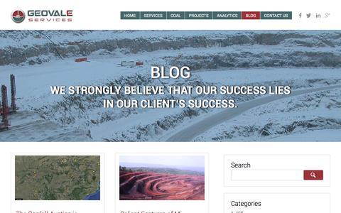Screenshot of Blog geovale.com - Blog page | Geovale - captured Jan. 27, 2016