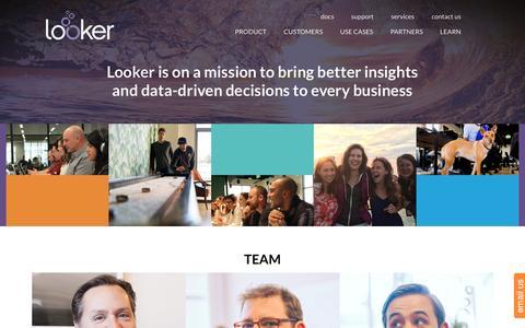 Screenshot of Team Page looker.com - Team   Looker   Looker Data Sciences - captured May 4, 2016