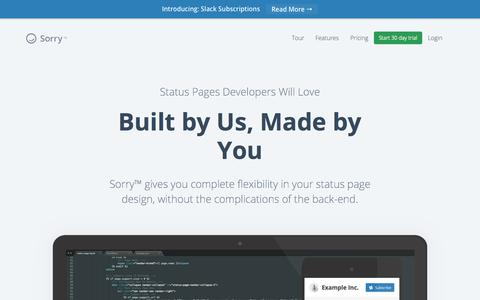 Screenshot of Developers Page sorryapp.com - Sorry™   Built by Us, Made by You - captured Nov. 17, 2015