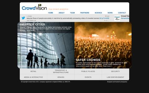 Screenshot of Home Page crowdvision.co.uk - Crowd Vision home - captured Sept. 13, 2014