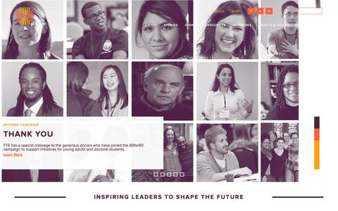 Screenshot of Home Page fteleaders.org - FTE Leaders - captured Oct. 6, 2014