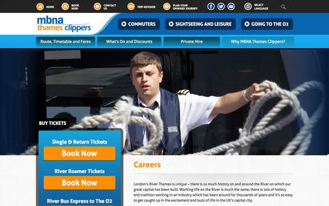 Screenshot of Jobs Page thamesclippers.com - Thames Clippers :: Careers - captured Oct. 26, 2014