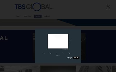 Screenshot of Press Page tbsglobal.net - SITE VISIT - captured Oct. 24, 2017