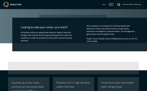 Screenshot of Jobs Page qualitas.com.au - Careers | Qualitas - captured Nov. 10, 2018