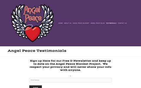 Screenshot of Testimonials Page angelpeace.com - Testimonials — Angel Peace - captured May 30, 2017