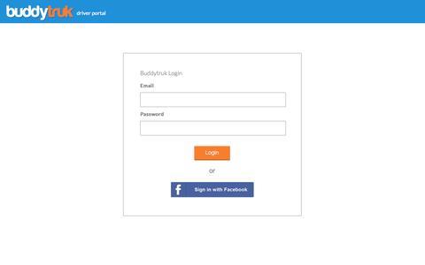 Screenshot of Login Page buddytruk.com - Buddytruk   Driver Portal Login - captured Oct. 28, 2014
