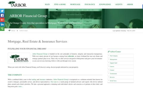 Screenshot of About Page arborfinancialgroup.net - The Turnkey Foundation Inc. DBA Arbor Financial Group - captured Feb. 6, 2016