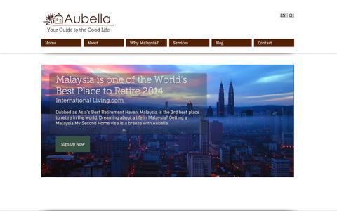Screenshot of Home Page aubella.com - Aubella   Malaysia My Second Home Agent - captured Nov. 21, 2016