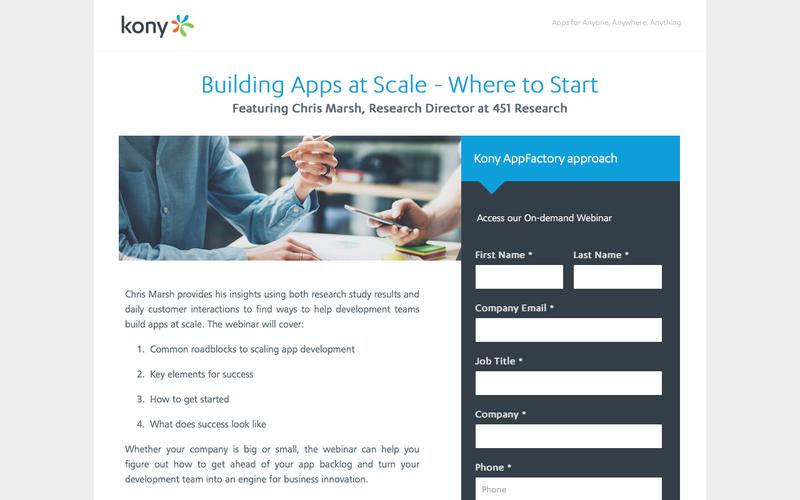 Kony   Building Apps at Scale - Where to Start