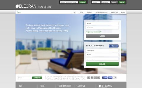 Screenshot of Signup Page elegran.com - Members | Elegran Real Estate - captured Sept. 24, 2014