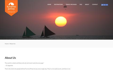 Screenshot of About Page turismopinoy.com - About Us – Turismo Pinoy - captured Nov. 13, 2017