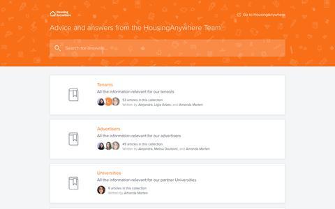 Screenshot of FAQ Page housinganywhere.com - HousingAnywhere Help Center - captured Dec. 22, 2018