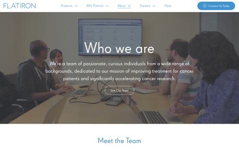 Screenshot of Team Page flatiron.com - Flatiron Health: Fighting Cancer with Organized Data - captured Nov. 20, 2016