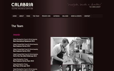 Screenshot of Team Page calabriacucina.co.uk - The Team - Calabria Italiana & Caffè Bar - Italian Restaurant, Glumangate Chesterfield - captured Oct. 1, 2014