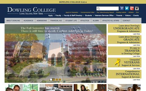 Screenshot of Home Page dowling.edu - Dowling College Long Island   Undergraduate, Graduate and MBA Programs - captured Oct. 1, 2015