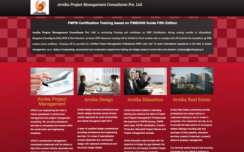 Screenshot of Home Page arnikagroup.in - Home - captured Oct. 4, 2014
