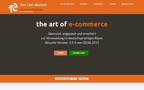 Screenshot of Home Page zen-cart-pro.at - zen-cart-pro.at - Die deutsche Zen Cart Version - captured Aug. 8, 2015