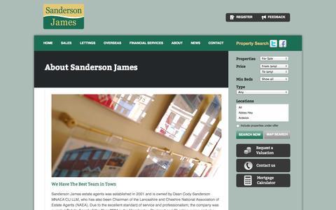 Screenshot of About Page sandersonjames.co.uk - Letting Agents Manchester - Sanderson James, UK - captured Oct. 4, 2014