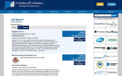 Screenshot of Jobs Page chamberect.com - Job Search - CM- | Chamber ECT - captured Sept. 27, 2018